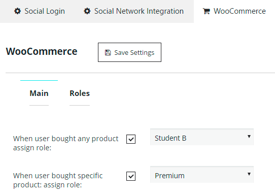 WooCommerce Main Assign Role