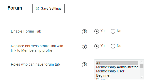 bbPress integration with Membership plugin