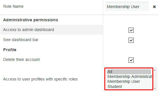 Membeship Role Access