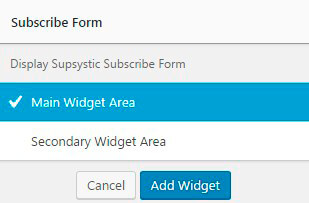 Newsletter plugin Subscribe Form
