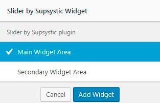 Slider plugin Widget