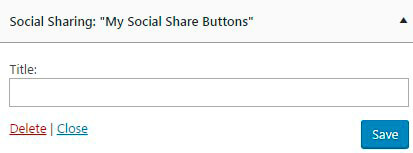 Social Share plugin Widget Setting