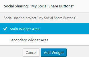 Social Share plugin Widget