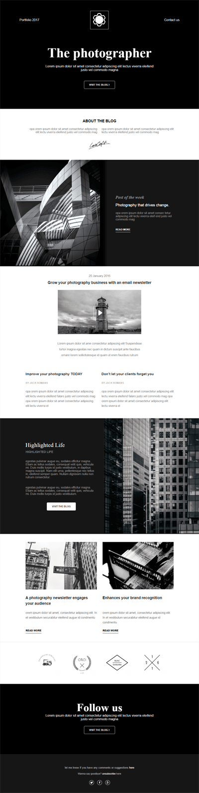 Black&White Newsletter Template