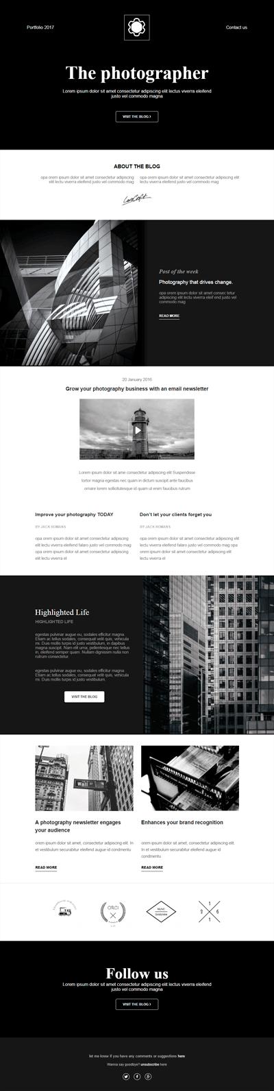 brilliant newsletter templates for wordpress website