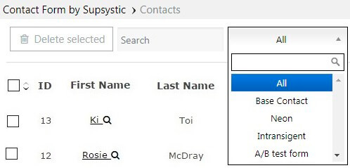 Contacts Search Field