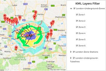 WordPress Google Maps - KML Layers Filter