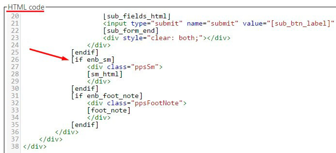 End deleting rows in html code