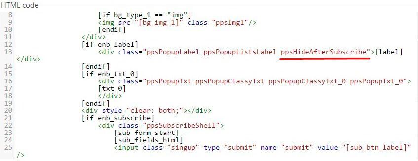 Popup-plugin-HTML-hide-code