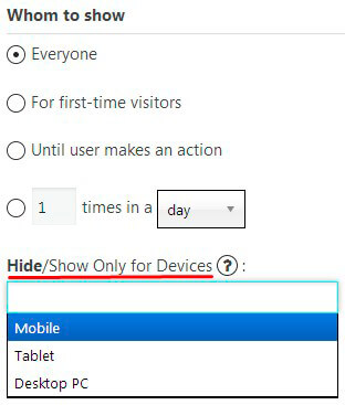 Hide/show mobile option in Popup plugin
