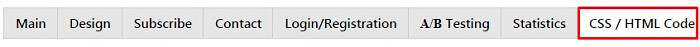 Popup HTML code tab