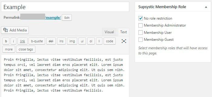 Membership-plugin-Restrict-content