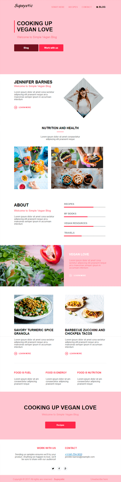 Veggy Newsletter Template