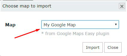 Choose Map to Slider