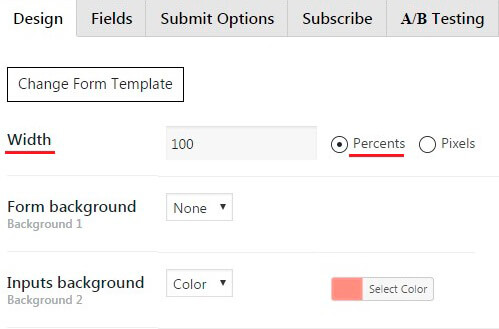 Contact Form Responsive mode