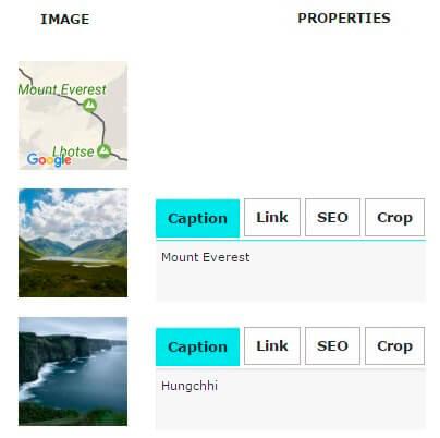 Google Map in Slider image list