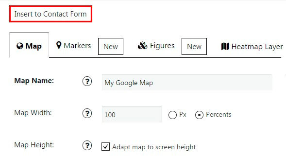 Google Maps integration with Contact Form