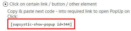 Popup shortcode for button