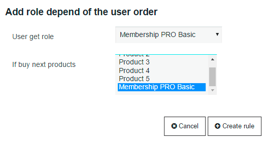 add role depend of the user order