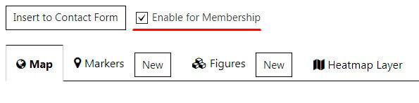 Enable for Membership feature of Google Map plugin