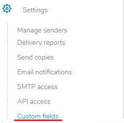 Mailrelay Settings list