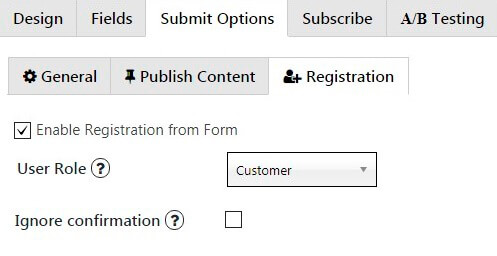 Choose Role on your Contact Form