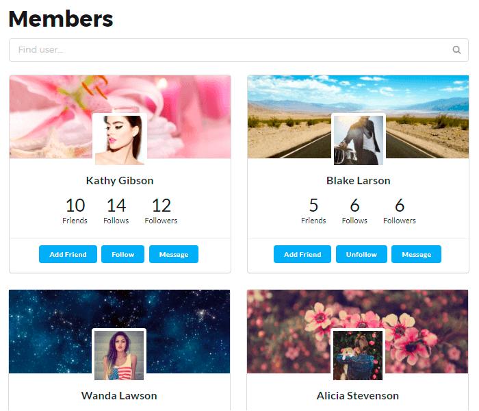 Membership Page Of Members Directory