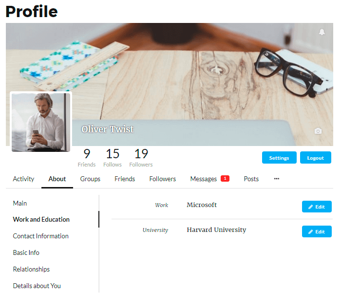 Membership Page Of User Profile