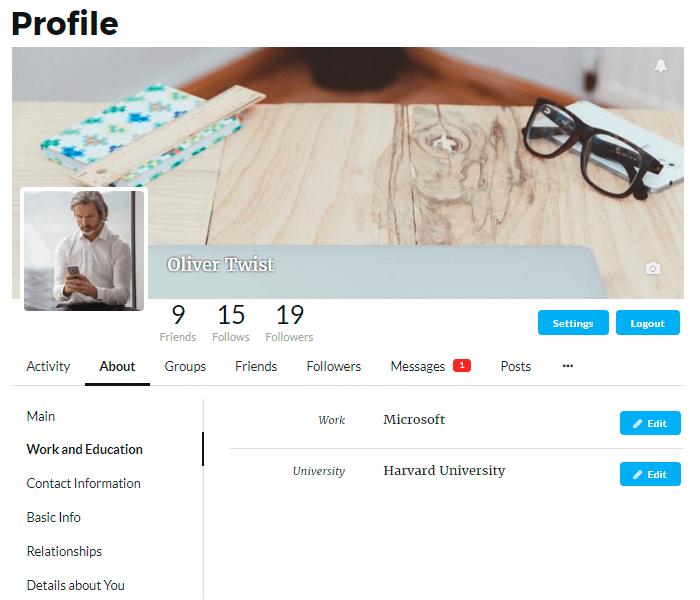 Membership Page Of User Profile