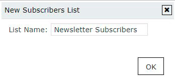 New Subscribers List