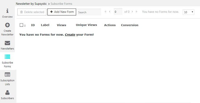 Newsletter Subscribe Forms