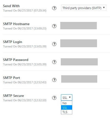 Send Contact Form with SMTP