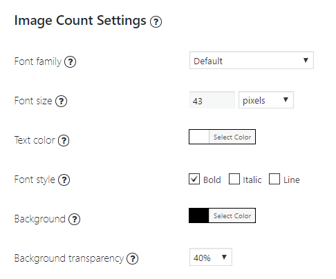 image count settings