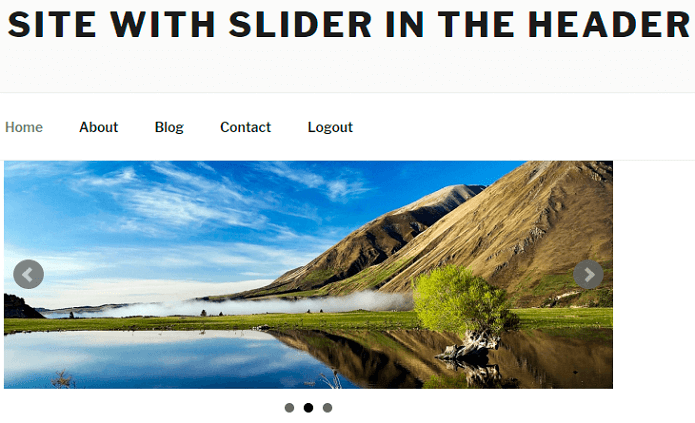 Example without Header Slider