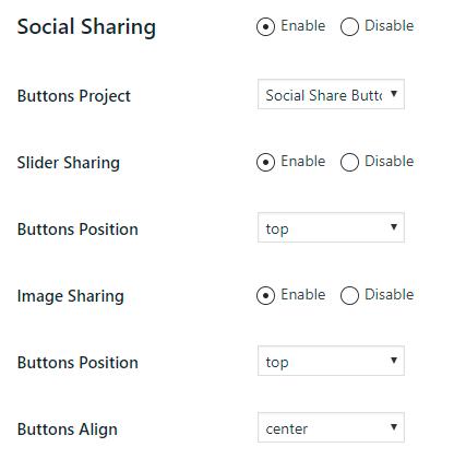 Slider Social Sharing