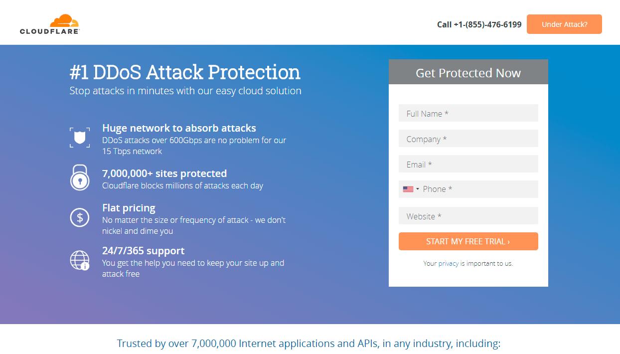 CloudFlare CDN service provider