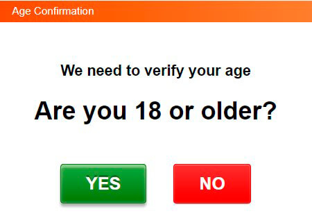 Are you 18 or older popup
