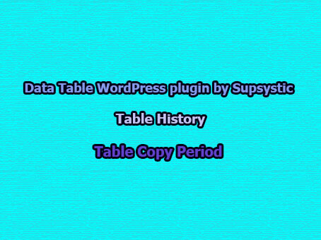 Table Copy Period