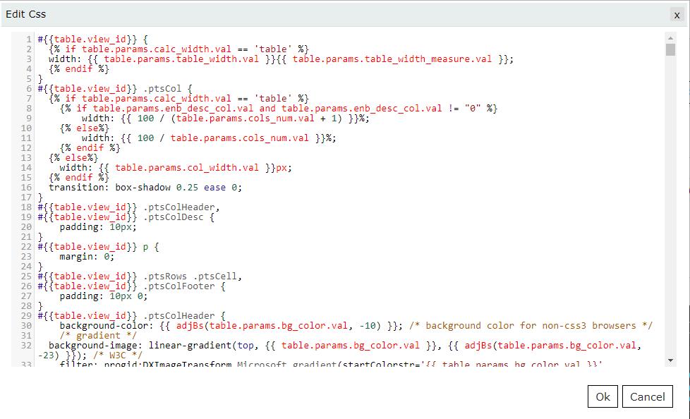 Edit CSS field