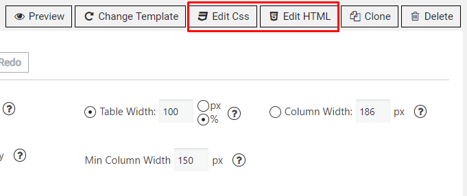 Edit HTML and CSS buttons