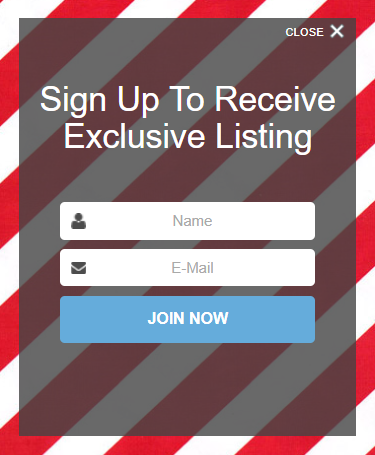 sign up popup