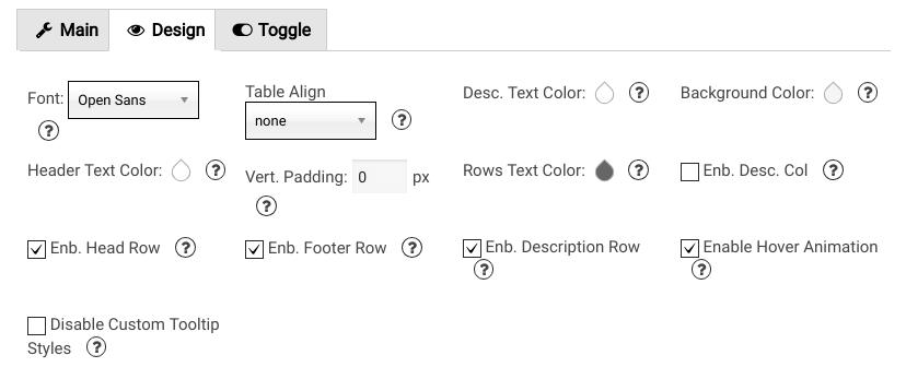 design tab